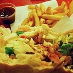 Falafel in pita with french fries