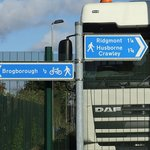 There are a number of walks/cycle routes signposted outside
