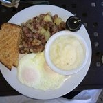 REAL corn beef hash. REAL grits. REALLY nice
