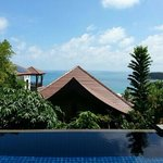View of hillside pool villa seaview