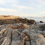 Granite rocks on the beach