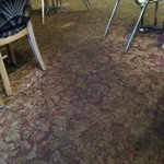 Carpet os very tired and dirty looking, restaurant could use a facelift physically, West Wok  |