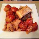Combination meal #5, Chicken balls, shrimp and pork etc,West Wok  |   West Hawk Lake, Manitoba