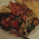 Vegetarian stirfry with rice. Was just ok.