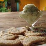Helado de Lima con hierbabuena hecho en casa / key lime & spearmint home made ice cream