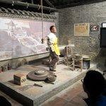 A master kiln artisan demonstrating his skills.