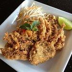 Pad thai soft shell crab!!!!!♡