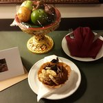 Welcome fruit and cookies in our room
