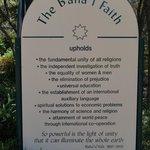 The Baha'i faith upholds....