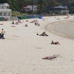 Wide angle shot of Balmoral Beach