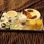 Delicious room service for breakfast