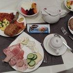 завтрак в Mercure hotel