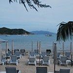 The resort's beach