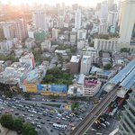 view from the room to BTS Asoke