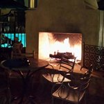 Cool evenings -- No worries; great poolside fireplace!!
