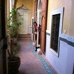 Peaceful open breezeways at Riad Ker Saada