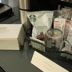 Quality complimentary coffee/tea in-room amenities