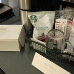 Quality complimentary coffee/tea in-room amenities