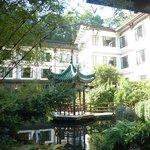 Hotel set in beautiful gardens