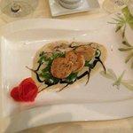 st jaques, crème de champignons