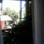 Vista da varanda para pousada