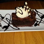hot chocolate brownie