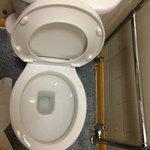Disgusting hallway toilet