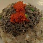 rice with black sesame, garlic
