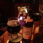 """Nice fire and smoked beer in the """"smoke room"""""""