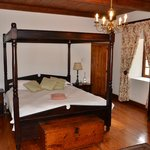 Master bedroom at Opstal Manor House