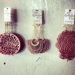 Locally designed Fashion Cuts earrings