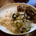 Rice with lam, potato and cabbage.