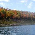 Bluff near Blue waters in the Fall