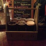The beer sampler. A great way to try six different beers.