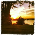 Summer sunset at the halfway house, Tulfarris