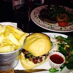 Burger and steak
