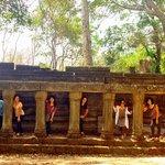 with friends in Siem Reap