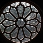 The Rose window on the south side