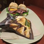Asiago Roast beef sandwich