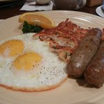 Great Breakfast, sausages are fabulous!