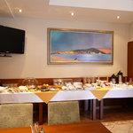 Der Frühstücksraum im 'Tisno'