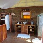 salle de bain du cottage (attention pas de sèche cheveux)