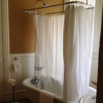 Antique tub and shower