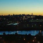 vue sur la skyline le matin