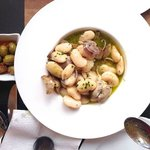 Clams with white beans