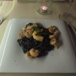 spaghetti nero with prawns and monkfish (one of the best meals we have ever tasted)