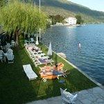 Lakeside sunbathing area