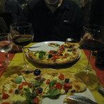 des pizzas généreuses