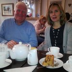 Ken and Amanda enjoying tea & cake