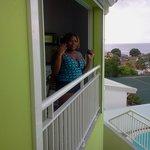 vue sur le balcon de la salle a manger